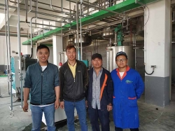Pesticide SC industrial production sand mill installed in Shandong provice